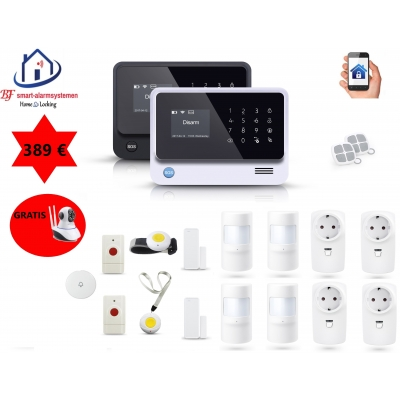 Home-Locking senioren draadloos smart alarmsysteem wifi,gprs,sms AC-05 set 2.
