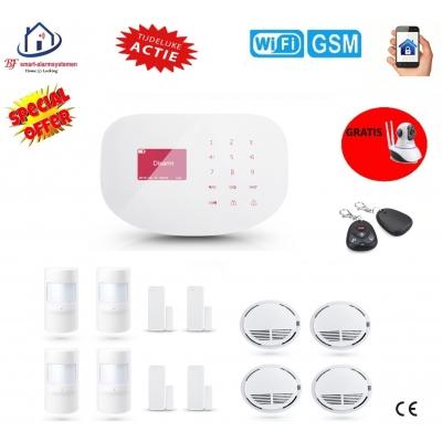 Home-Locking draadloos smart alarmsysteem wifi,gprs,sms set 2 AC-08