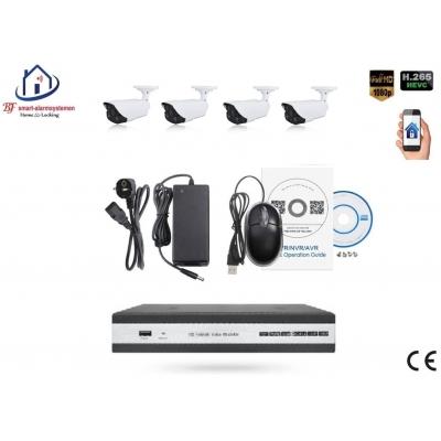 Home-Locking camerasysteem met NVR 5.0MP H265 POE met 4 bullet camera's 1944P 5.0MP. CS-4-1464