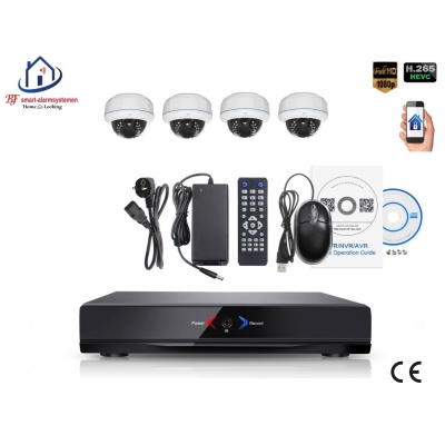 Home-Locking camerasysteem met NVR 2.0MP H.265 POE en 4 binnen camera's 2.0MP CS-4-1402