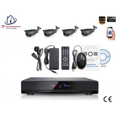 Home-Locking camerasysteem met NVR 2.0MP H.265 POE en 4 bullet camera's 2.0MP CS-4-494