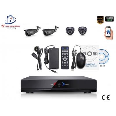 Home-Locking camerasysteem met NVR 3.0MP H.265 POE met 2 dome en 2 bullet camera's 3.0MP CS-4-496