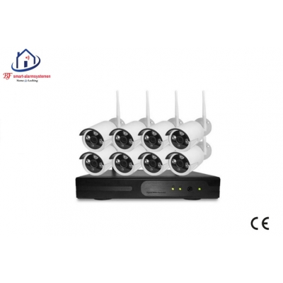 Home-Locking draadloos wifi ip-camerasysteem met 8 bullet camera's 1080P 2.0MP.CS-8-485