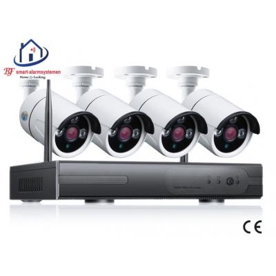 Smart WiFI set van 4 ip-camera's 2.0MP met NVR draadloos werkt met Amazon Alexa / Google Assistance.T-2056