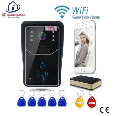 Home-Locking WIFI video deurtelefoon draadloos met toegangscontrole.DT-1101