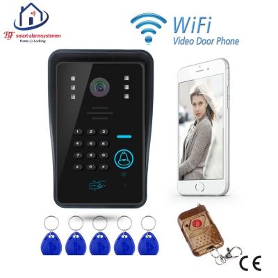 Home-Locking WIFI video deurtelefoon draadloos met toegangscontrole met ontgrendeling.DT-1103