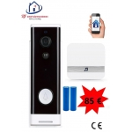 Smart WiFi HD video deurbel 2.0MP met binnen bel werkt met Amazon Alexa / Google Assistance. T-2090B.