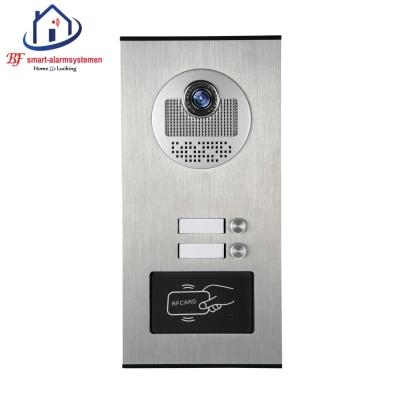 Home-Locking buiten bedieningspaneel voor appartementen drukknoppen boven elkaar inbouw voor deur videofoon 4 draads met ID.DT-1109