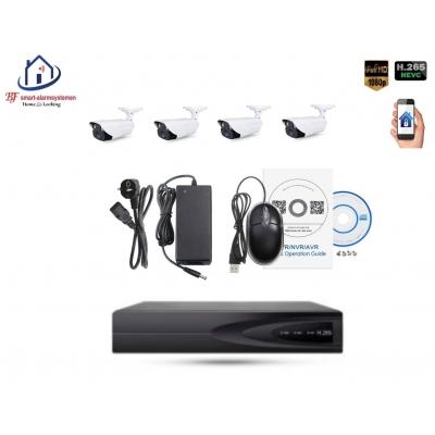 Home-Locking camerasysteem met bewegingsdetectie en NVR 2.0MP H265 POE en 4 buitencamera's 2.0MP CS-4-1403D