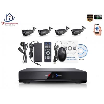 Home-Locking camerasysteem met NVR 2.0MP H.265 POE en 4 buiten camera's 2.0MP CS-4-494