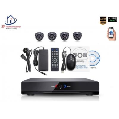 Home-Locking camerasysteem met NVR 2.0MP H.265 POE en 4 binnen camera's 2.0MP CS-4-495