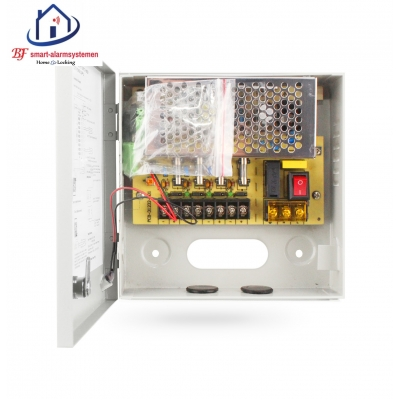 Home-Locking supply box 12VDC 3A 4 x camera  CS-421