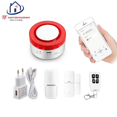Smart WiFi Sirene-alarmsysteem werkt met Amazon Alexa / Google Assistance.T-2000