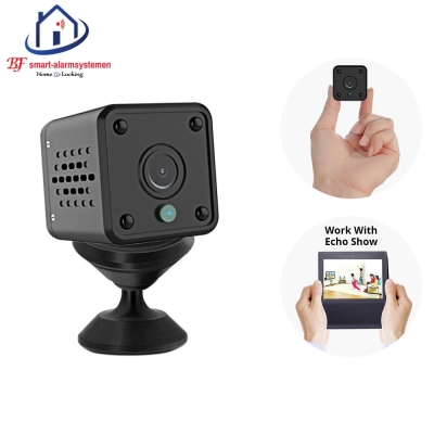 Smart WiFI mini IP-camera 2.0MP werkt met Amazon Alexa / Google Assistance.T-2043