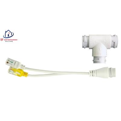 Home-Locking POE-splitter voor aansluiten van 2 IP-camera's op 1 UTP kabel RJ-652.
