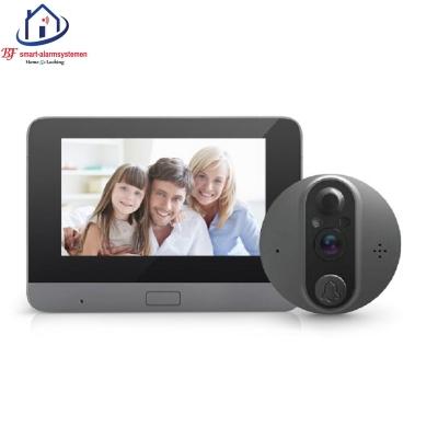 WIFI deurvideo kijkgaatje met 4.3 Inch binnen scherm kan werken met Amazon Alexa / Google Assistance.T-2100.